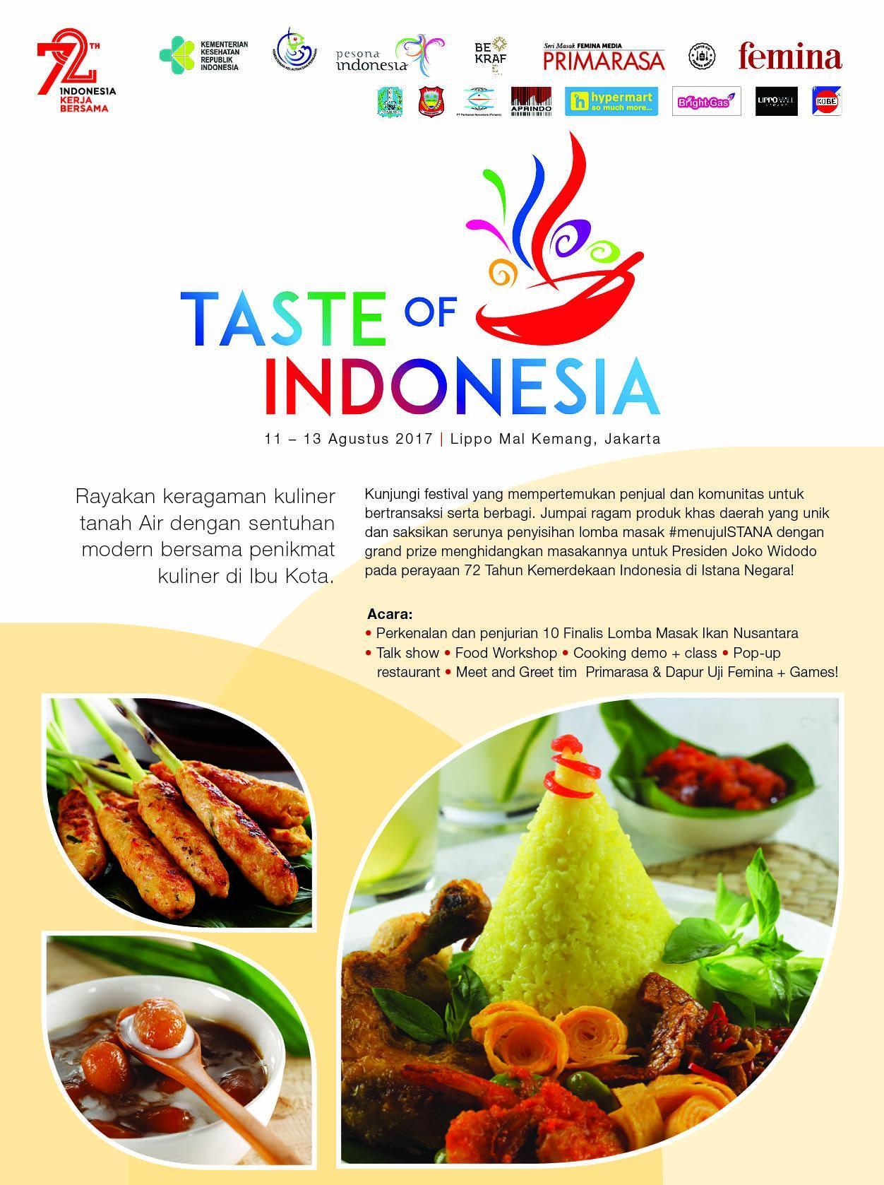 Taste Of Indonesia Merayakan Keragaman Kuliner Nusantara