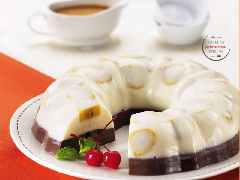 Resep Puding Pisang Cokelat