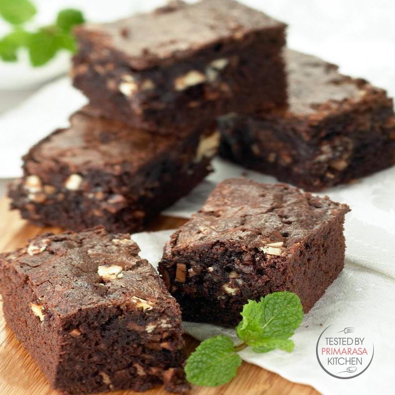 Resep Triple Chocolate Brownies