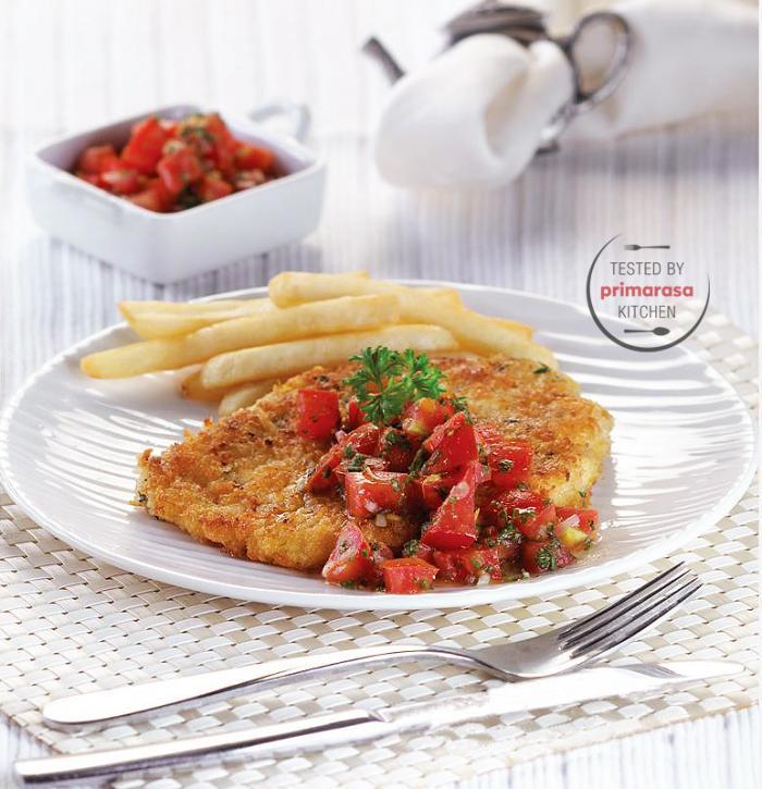 Resep Chicken Schnitzel